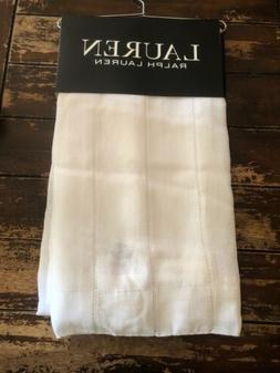 New Set Ralph Lauren Curtain Panels Linen White Stripe Hamil