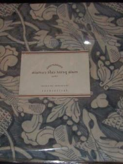 NEW Pottery Barn Set of 2 Maia Blue Floral Linen Café Curta