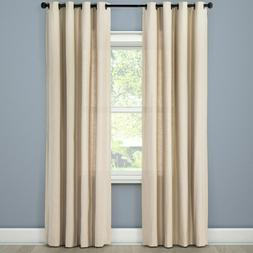 NEW Threshold Textured Brown Linen Solid Curtain Window Pane