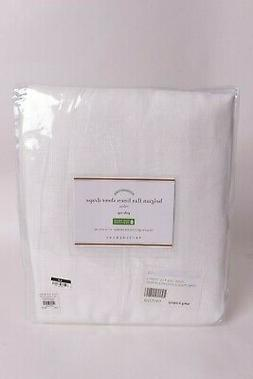 NWT Pottery Barn Belgian Flax Linen Pole top Sheer Curtain,