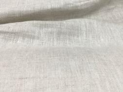 """Off White  100% linen fabric 60"""" Width Sold By The Yard"""