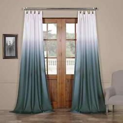 ombre faux linen semi sheer curtain sold