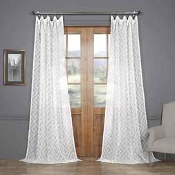 Patterned Linen Sheer Curtain