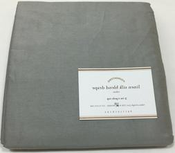 "Pottery Barn Platinum Linen Silk Blend 108"" Curtains Panel"