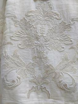 Pure Luxury Linen Belgian Lined Embroidered Curtains Drapes