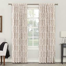 Sun Zero Rita Floral Blackout Lined Back Tab Curtain Panel,