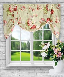 Ellis Curtain Sanctuary Rose 50-by-21 Inch Lined Tie-Up Vala