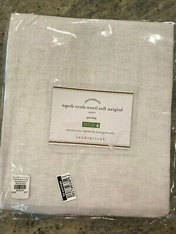 Pottery Barn Set 2 Belgian Flax Linen Poletop Sheer Curtains