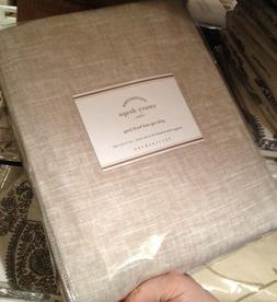 Pottery Barn Set 2 Emery Drape Oatmeal 50x84 Linen Curtains