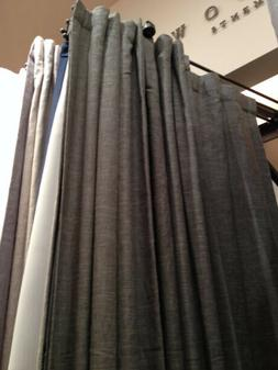 Pottery Barn Set 2 Emery Drapes Navy Blue 50x84L Linen Curta
