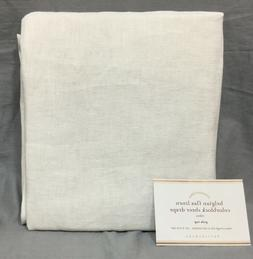 "Pottery Barn Set/2 Navy Belgian Linen Bottom Border 108"" S"