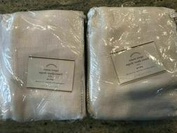Pottery Barn Set of 2 Open Weave Linen Sheer Curtains White