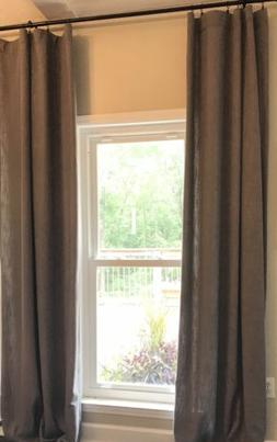 Set Of 4 Half Price Drapes FHLCH-VET13194-108 Pewter Faux Li