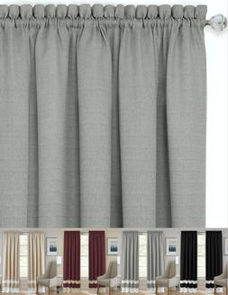 shabby linen farmhouse sheer flax window curtains