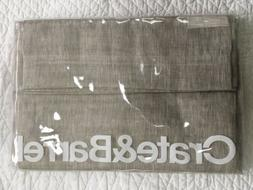 Crate And Barrel Sheer 100% Linen Curtain Panel Natural Beig