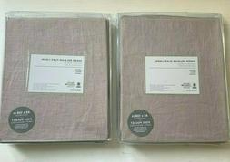 WEST ELM Sheer Belgian Flax Linen Curtains 48 x 108 Set of 2
