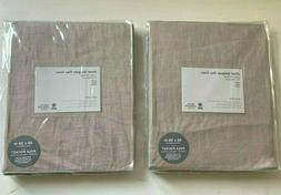 WEST ELM Sheer Belgian Flax Linen Curtains 48 x 96 Set of 2