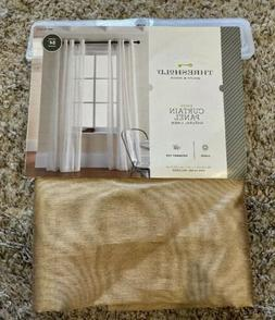 Sheer Light Filtering Curtain Panel Threshold Natural Linen