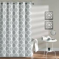 Shower Curtain in Navy and White