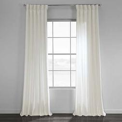 Exclusive Fabrics Solid Country Cotton Linen Weave Curtain