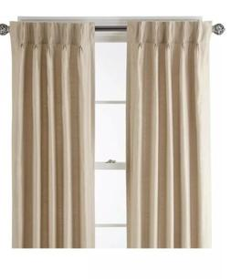 Royal Velvet Supreme Pinch-Pleat/Back-Tab Lined Curtain Pane