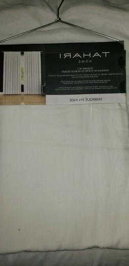 Tahari Belgian 100%Flax WHITE Window Panels Drapes Curtains