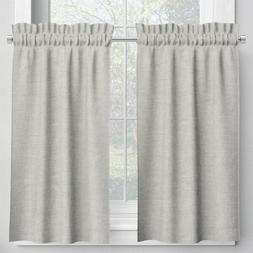 Tailored Tier Curtain Panels in Linen Natural Beige