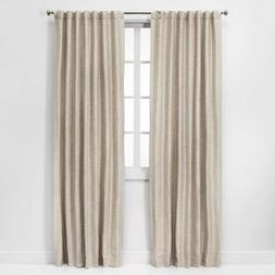 Threshold- Natural Linen Rod Pocket Curtain Panel One Panel