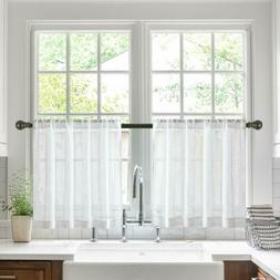 Tier Curtains Kitchen Cafe Bathroom Window Curtain Panels, F