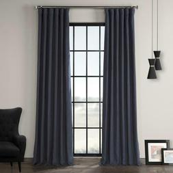 True Navy Blue French Linen Curtain - 50 in. W x 120 in. L