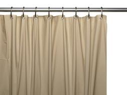 Vinyl Shower Curtain Liner, Linen