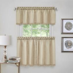 Wallace Window Kitchen Curtain Tier Pair and Valance Set - 5