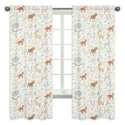 Sweet Jojo Designs Woodland Animal Toile Window Treatment Pa